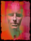 Imagem conservada em estoque conceptual de Techno do retrato de Curcuit Fotos de Stock Royalty Free