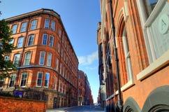 Imagem conservada em estoque da arquitetura velha em Nottingham, Inglaterra Imagem de Stock Royalty Free