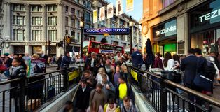 Imagem conservada em estoque da skyline de Londres, Reino Unido fotografia de stock