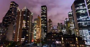 Imagem conservada em estoque da skyline de New York, EUA imagens de stock royalty free