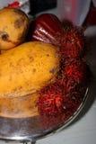 Imagem conservada em estoque de frutos tropicais Foto de Stock Royalty Free