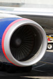 Imagem conservada em estoque de um airoplane no aeroporto Fotos de Stock