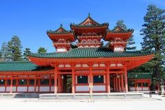 Imagem conservada em estoque do santuário de Heian, Kyoto, Japão imagens de stock royalty free