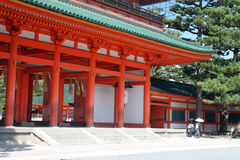 Imagem conservada em estoque do santuário de Heian, Kyoto, Japão Imagem de Stock