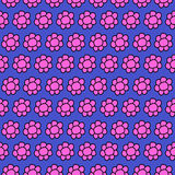 Imagem conservada em estoque livre dos direitos bonitos do teste padrão da repetição de Seamles da flor Fotografia de Stock