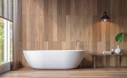 Imagem contemporânea moderna da rendição do banheiro 3d Fotografia de Stock Royalty Free