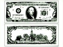 A imagem contorna notas de dólar Ilustração Royalty Free