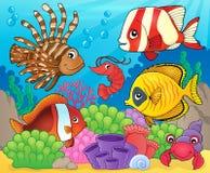 Imagem coral 8 do tema da fauna Imagens de Stock Royalty Free