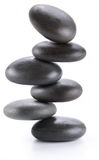 Imagem creativa - pirâmide de pedras de equilíbrio dos termas Fotografia de Stock Royalty Free
