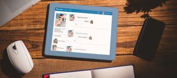 Imagem 3d composta da relação da aplicação do bate-papo Foto de Stock Royalty Free