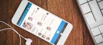 Imagem 3d composta da relação da aplicação do bate-papo Fotos de Stock Royalty Free