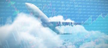 Imagem 3d composta do avião gráfico Imagens de Stock Royalty Free