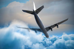 Imagem 3d composta do avião gráfico Fotografia de Stock