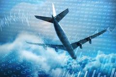 Imagem 3d composta do avião gráfico Imagem de Stock Royalty Free