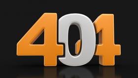 imagem 3d do texto 404 Imagem de Stock
