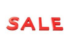 imagem 3d do texto do vermelho da venda Imagens de Stock