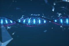 Imagem 3D futurista do ADN Investiga??o cient?fica imagens de stock royalty free