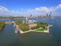 Imagem da antena de Ellis Island Foto de Stock Royalty Free