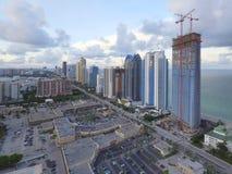 Imagem da antena de Sunny Isles Beach FL Foto de Stock