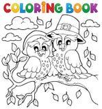 Imagem 5 da ação de graças do livro para colorir Imagens de Stock Royalty Free
