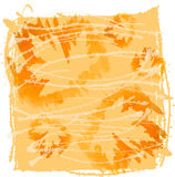 Imagem da aquarela da folha alaranjada do outono do bordo Imagem de Stock Royalty Free