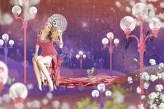 Imagem da arte com mulher bonita Fotografia de Stock Royalty Free