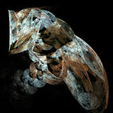 Imagem da arte do fractal da flama de um gato ilustração do vetor