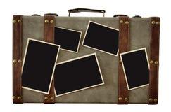 Imagem da bagagem velha do vintage com as fotos vazias para a fotografia m Foto de Stock Royalty Free