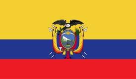 Imagem da bandeira de Equador ilustração do vetor