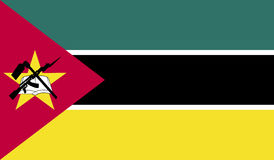 Imagem da bandeira de Moçambique Fotos de Stock