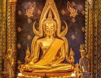 A imagem da Buda dourada Fotos de Stock Royalty Free