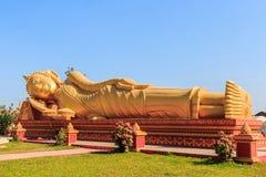 Imagem da Buda dourada de reclinação Imagens de Stock