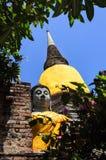 Imagem da Buda e pagodes antigos fotografia de stock royalty free