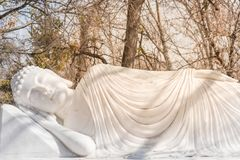 Imagem da Buda em seu nirvana de Parinibbana após a morte fotografia de stock royalty free