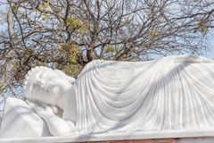 Imagem da Buda em seu nirvana de Parinibbana após a morte imagens de stock royalty free
