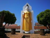 Imagem da Buda na posição de posição que mantém sua mão Este Budd foto de stock royalty free