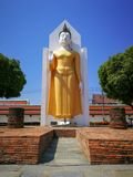 Imagem da Buda na posição de posição que mantém sua mão Este Budd fotografia de stock royalty free