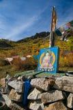Imagem da Buda nas montanhas Foto de Stock Royalty Free