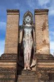 Imagem da Buda no parque de Wat Mahathat In Sukhothai Historical Imagens de Stock Royalty Free