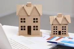 Imagem da casa do modelo novo no modelo da arquitetura Imagem de Stock Royalty Free
