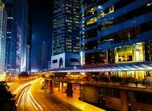 Imagem da cidade da noite foto de stock royalty free