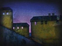 Imagem da cidade da noite ilustração stock