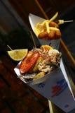 Imagem da comida rápida do marisco Foto de Stock