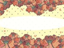 Imagem da cor com papoilas estilizados ilustração royalty free