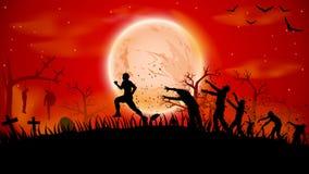 Imagem da corrida do zombi Imagens de Stock