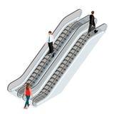 Imagem da escada rolante Ilustração isométrica da escada rolante JPG do elevador Escada da arquitetura, elevador e elevador moder Foto de Stock