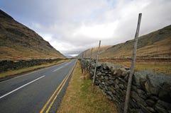 Imagem da estrada em Cumbria, Inglaterra fotografia de stock