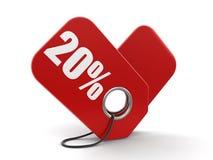 Imagem da etiqueta 20% Fotos de Stock Royalty Free