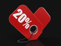 Imagem da etiqueta 20% Foto de Stock