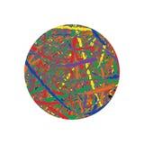 Imagem da fantasia do rolo dos confetes ilustração do vetor